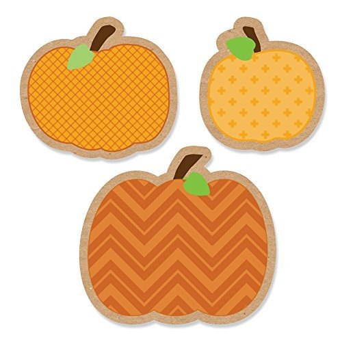 Big Dot of Happiness Pumpkin Patch - DIY Shaped Fall & Thanksgiving Party Cut-Outs - 24 Count