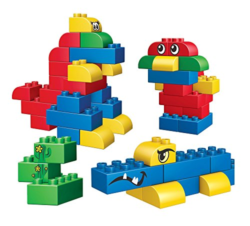 (Mega Bloks Junior Builders – Endless Building! 60 Piece, Mini Sized Blocks)