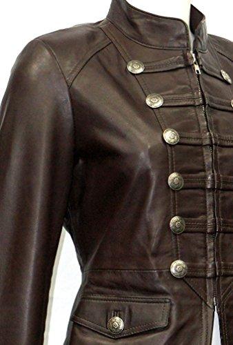 Leather Mujeres De Las Suave Boots Señoras Estilo Piel Cordero Militar Nuevo Marron Desfile And Chaqueta 5xnXxwgF