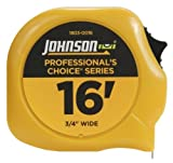 Johnson Level and Tool 1803-0016 16-Foot x 3/4-Inch Professional-Foots Choice Power Tape by Johnson Level & Tool