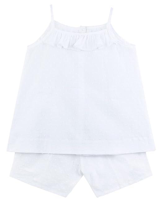 Gocco S73LTCCV201, Conjunto de Pijama Para Niñas, Blanco, 1/2