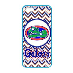 Generic Customize Unique Otterbox--NCAA Florida Gators Team Logo Plastic and TPU Four Color DeepSkyBlue Violet Darkorange Palegodenrod Case Cover for iPhone5 iPhone5S