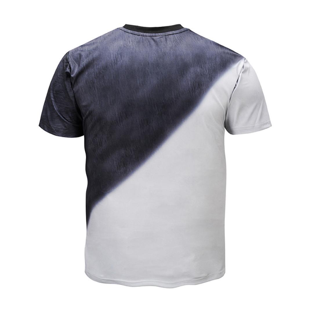 Camiseta para Hombre, Personalidad para Hombre 3D Print Double Cat Casual Slim Manga Corta Top Blusa: Amazon.es: Ropa y accesorios