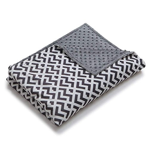 YnM Minky Duvet Cover for Weighted Blankets (60x80) - Ripple Print