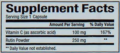 Natural Factors Rutin 250mg Capsules, 90-Count