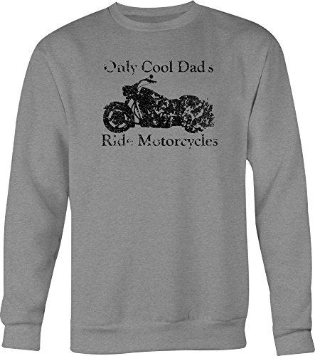 DISTRESS Only Cool Dad's Ride Motorcycles - Cruiser Crewneck Sweatshirt - 2XL