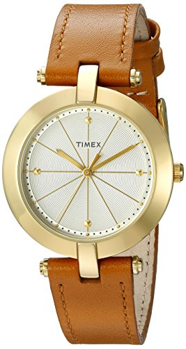 Timex Women's TW2P79500AB City Collection Analog Display Quartz Brown Watch