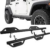 jeep running boards 4 door 2015 - Running Boards Fits 2007-2017 Jeep Wrangler   4 Door Side Step Bar Nerf Bar Black by IKON MOTORSPORTS   2008 2009 2010 2011 2012 2013 2014 2015 2016