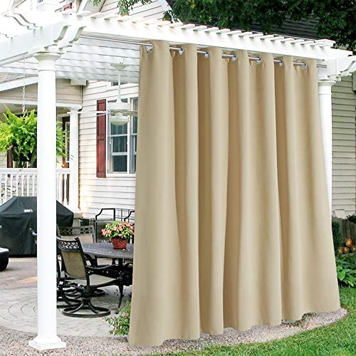 RYB HOME Patio Curtains Outdoor - a good cheap window curtain panel