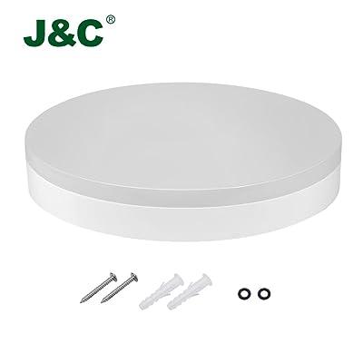 JCR Plafonnier LED 18W 1200ML Lampe De Plafond Impermable IP40 Blanc Naturel 4000 4500K Parfait Pour Salle Bain Cuisine Salon Couloir