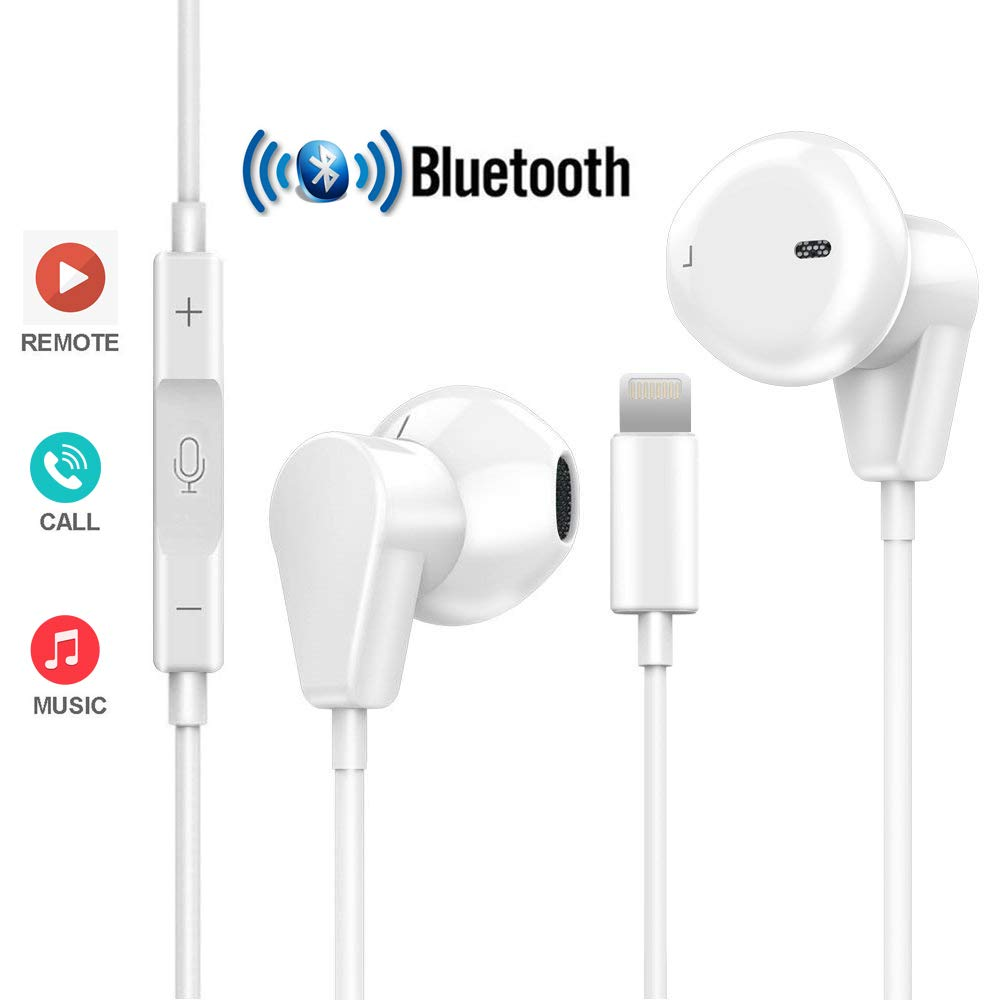 Coyaho Bluetooth Headphones Compatible with iPhone 7 8 X, Stereo Earphones with Microphone Volume Control