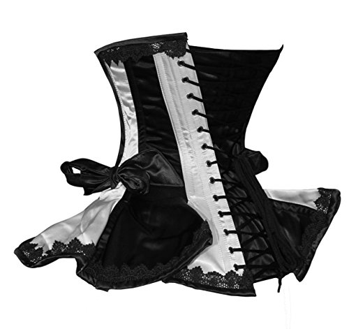 Luvsecretlingerie 26 Double Steel Boned Waist Training Satin Underbust Shaper Corset For Wider Hips Z9SoG4H