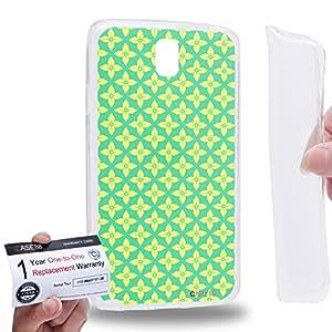 Case88 [Samsung Galaxy Note 3 Neo N750 N7505] Gel TPU Carcasa/Funda & Tarjeta de garantía - Art Carpet And Tapestry Lime