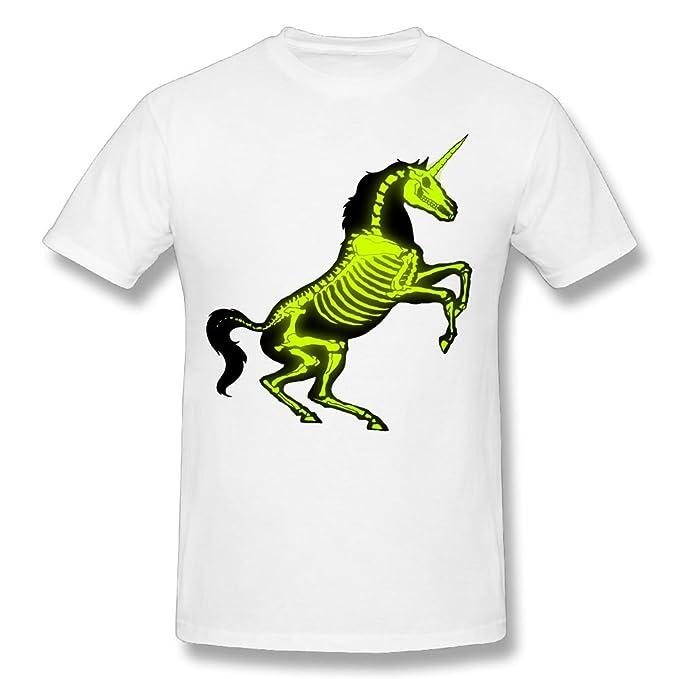6f8adb767 Jinbara Man X Ray Unicorn Skeleton Graphic Geek T-Shirts | Amazon.com
