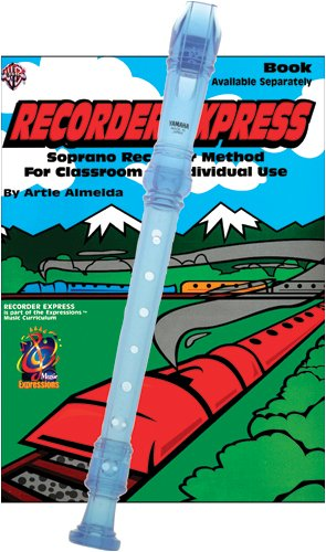 Recorder Pack: Yamaha Blue Soprano Recorder with Recorder Express Book