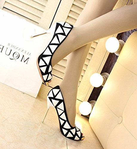 Fish 34 Fashion White Of Lady All Work 5Cm A Tip Shoes Match High The Work Elegant With Fine MDRW Shoes Heels Mouth The 10 Leisure Spring The OnAFAWHR