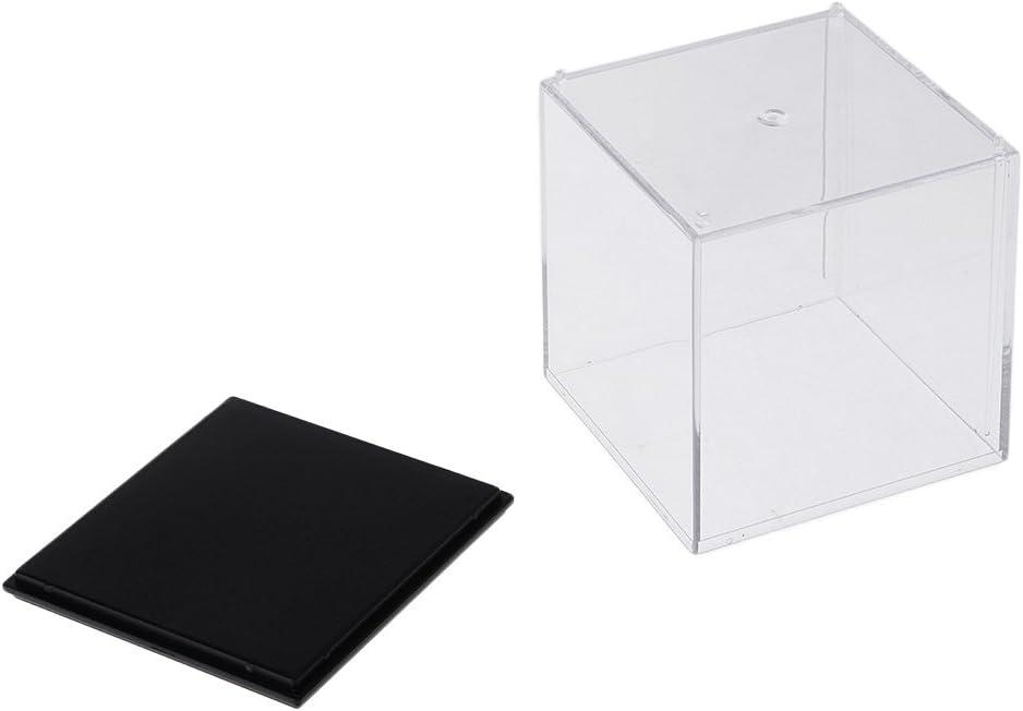 P Prettyia 2pcs Acryl Vitrinen Display Case Box Einzelvitrine f/ür Actionfiguren Automodell
