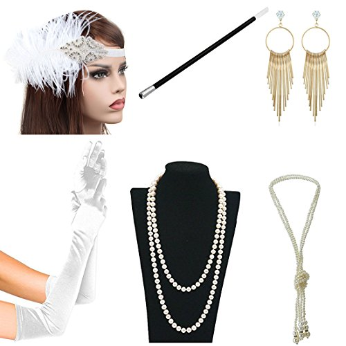 1920s Accessories Themed Costume Mardi Gras Party Prop Additions To Flapper Dress (B)