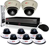 REVO America RE16BNDL20-4T Surveillance System with 16 Channel 4TB DVR with Quick Connect Cameras and Elite Cameras (White)