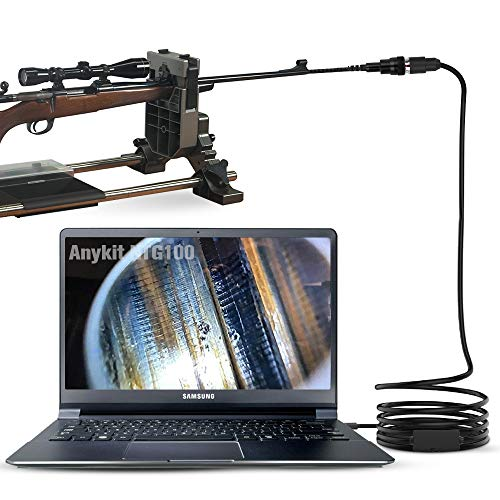 Anykit Rifle Borescope, USB Digital Short Focus Gun Barrel Scope Videoscope Inspection Camera with 5mm Diameter and 39