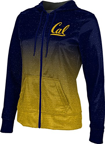 ProSphere UC Berkeley Cal Women's Zipper Hoodie, School Spirit Sweatshirt (Ombre) FCFD1 Navy and Gold (Options Berkeley)