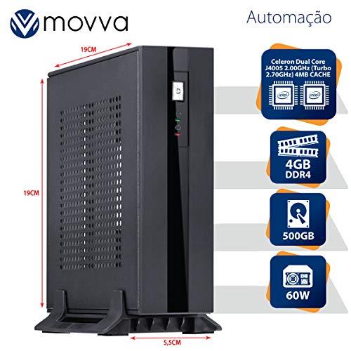 MINI COMPUTADOR INTEL DUAL CORE J4005 2.00GHZ MEMÓRIA 4GB DDR4 HD 500GB HDMI/VGA FONTE EXTERNA 60W - LINUX - MOVVA