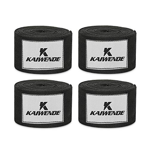 KAIWENDE 2 Pair(4 PCS) Boxing Hand Wraps-2''x200''Each Wrap-Reusable Handwraps for Adults Boxers