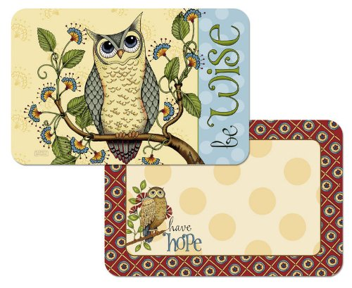 Wise Owl Reversible Placemats Set