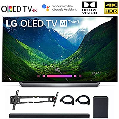 """LG OLED65C8 OLED 65C8 OLED65C8PUA 65"""" C8 OLED 4K HDR AI Smart TV (2018 Model), LG SK8Y 2.1 ch High Res Audio Sound Bar, Wall Mount, 2HDMI Cables. LG Authorized Dealer!"""