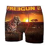 FREEGUN Boxer Men P44 Africa Theme (L, Leopard)