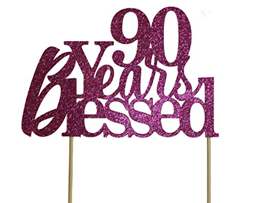 Colorful 90 Years Blessed Cake Topper - 18 Colors