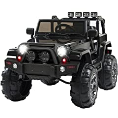 Nothing's better than cruising in your truck, the sun shining down, and a juice box in hand. Start 'em young and add a car to the garage with this ride-on truck, complete with in-car and remote-control steering. Adventure awaits: get some gra...