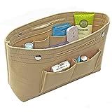 Felt Fabric Handbag Organizer Purse Organizer Insert Bag Multi-Pocket Travel for Tote Bag