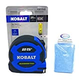 Kobalt 25' Magnetic Tape Measure and Tesadorz Microfiber Cloth