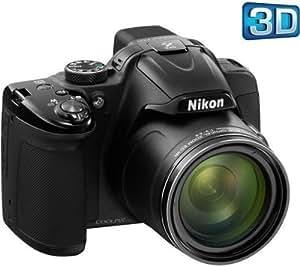 NIKON Nikon Coolpix P520 - Cámara digital - 3D - compacta - 18.1 Mpix - 42 zoom óptico x - negro + Tarjeta de memoria SDHC 16 GB Class 10 + Funda - Talla M + Trípode V-Pod