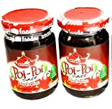 Poi-Poi Extra Spicy Hot Sauce 2 Pack | A Scotch Bonnet Hot Sauce | Tropical African Shito Sauce in a Bottle | Also Available in Regular Spicy Flavor