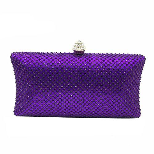 Sac De à Main Sac Femmes De Banquet purple Pour Soirée Diamant Sac zH0Yqx