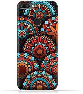 AMC Design Geometrical Mandalas Pattern Silicone Protective Case For Huawei Honor 9i - Multi Color