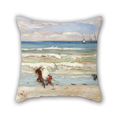 Tiro Amortiguador Cubiertas De Oil Painting James Wilson Morrice - Beach Scene, Tangier para Comedor Sala De Silla Parejas...