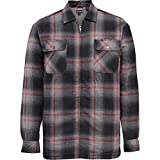 Wolverine Men's Marshall Full Zip Sherpa Lined Shirt Jacket, Gray Plaid, 2X-Large