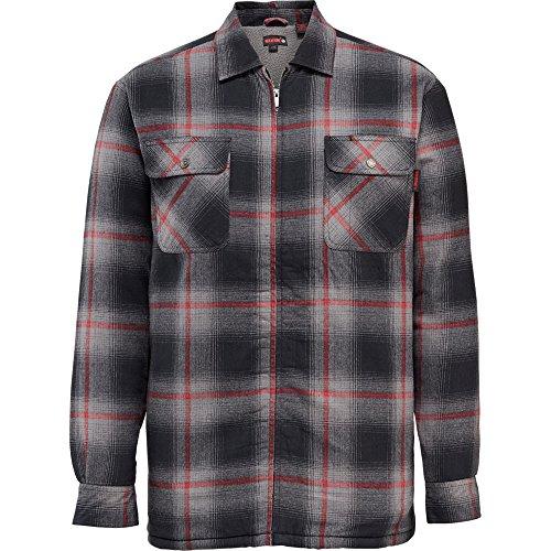 Wolverine Men's Marshall Full Zip Sherpa Lined Shirt Jacket, Gray Plaid, 2X-Large - Lined Mens Shirt Jacket