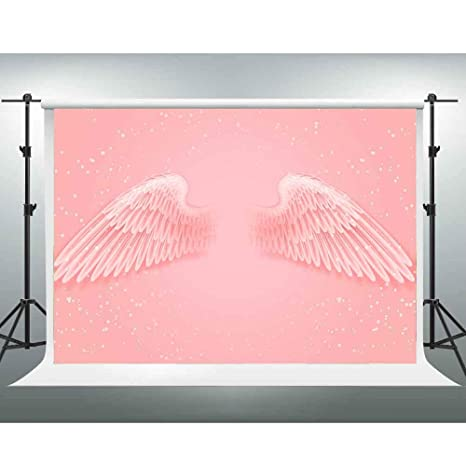 Amazon Com Pink Backdrop Gesen 10x7ft Angel Wings Photo Background