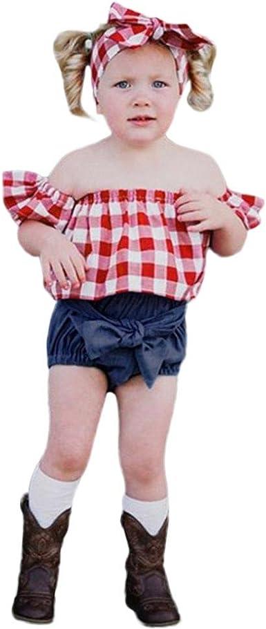 RDTIAN 2-12 Years Kids 4pcs Xmas Baby Girls Boys T-Shirt Pants Christmas Costume