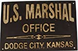 U.S. Marshal Dodge City Kansas Cast Iron Metal Wall Plaque Sign