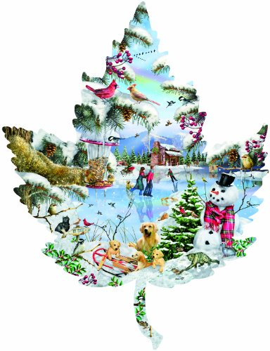Winter on the Lake 1000 pc Jigsaw Puzzle