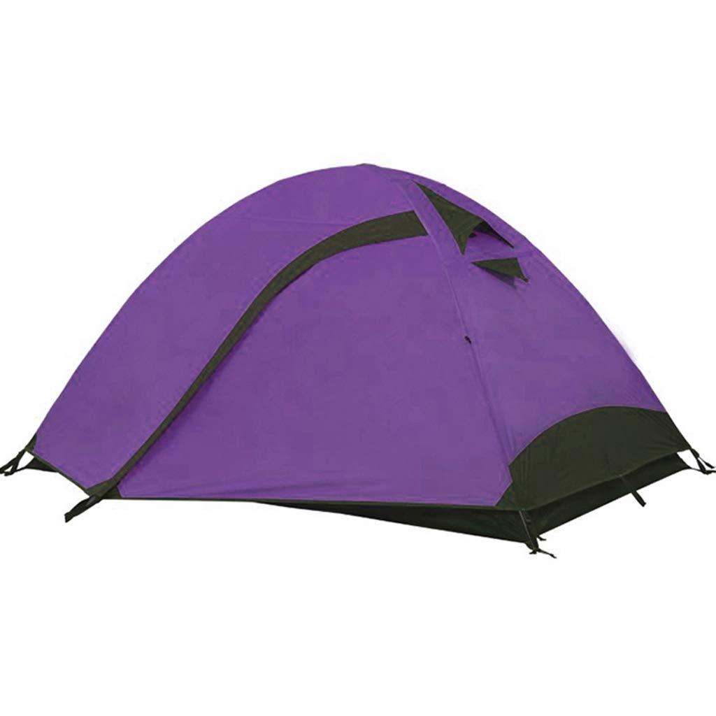AX-outdoor products Doppeltes kampierendes Überdachungszelt des Zeltes im Freien Doppeltes Wasserdichtes Markisenpolyestertuch/purpurrote Farbe 210  140  110cm