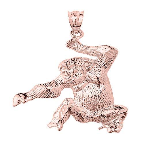 10 ct 471/1000 Or Rose Diamant Coupe Singe Pendentif