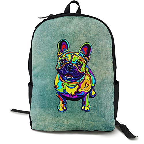 Buy French Bulldog Matted Prints Lightweight Backpack Travel Daypack Boys Girls Bookbag Big Capacity Backpack for Day Hiking and More - Light Matted Print