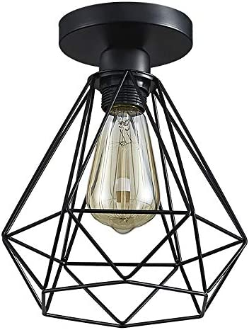 ZHU YAN Farmhouse Pendant Light Fixture Industrial Vintage Flush Mount Kitchen Island Lighting Oil Black Rustic Dinning Room Ceiling Lighting Fixture