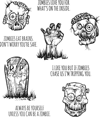 Stamper's Anonymous Tim Holtz Cling Stamps, Zombies